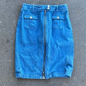 Brooklyn Industries Zipper Denim Skirt size medium